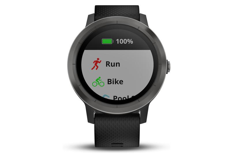 garmin vivoactive 3 gps sportuhr slate schwarz wristband. Black Bedroom Furniture Sets. Home Design Ideas