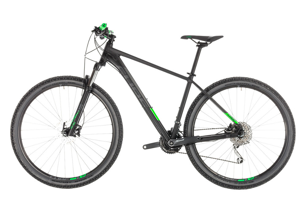 42424a90210 Cube Analog Hardtail 27.5'' MTB 2019 Shimano 9S Black / Green ...