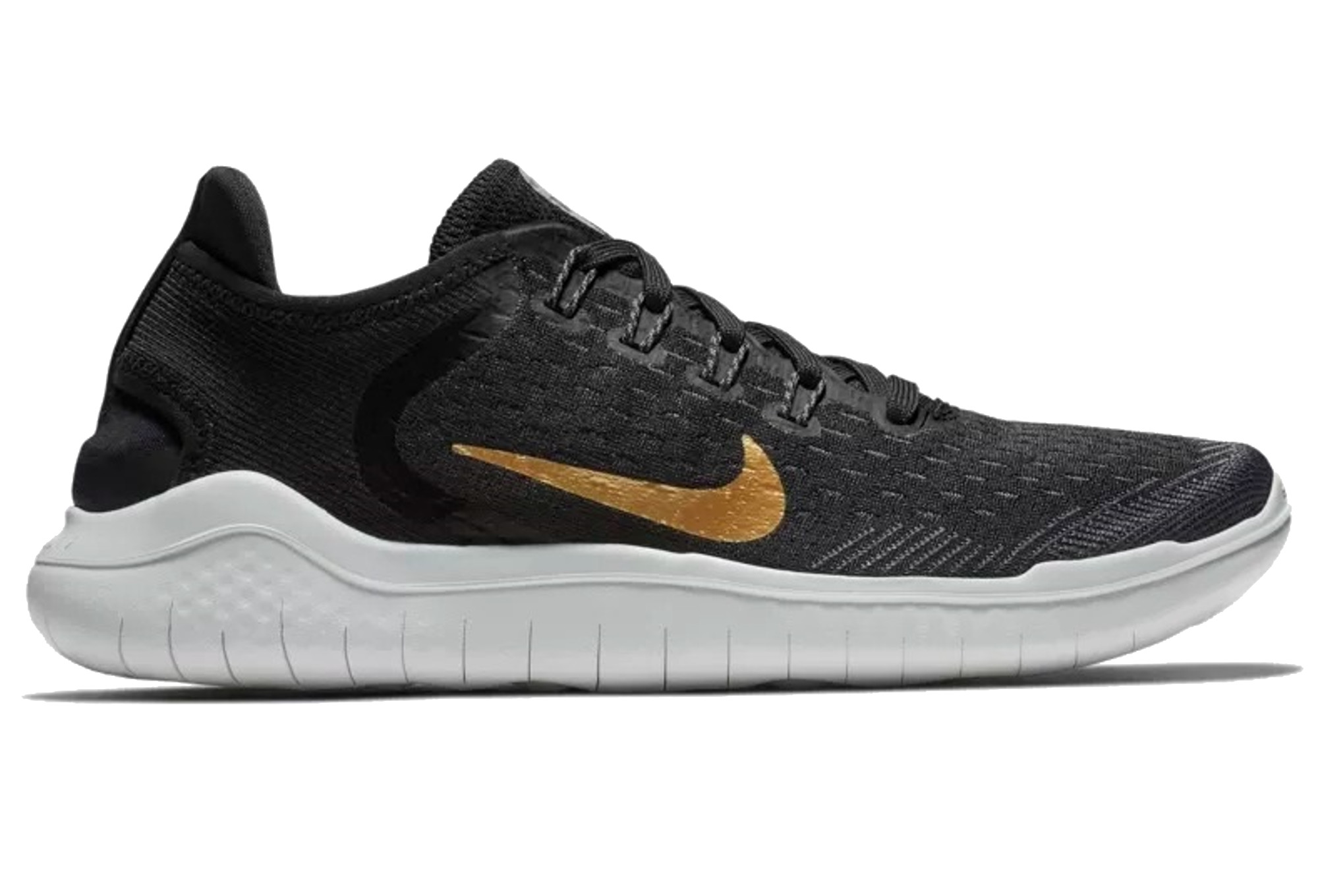 finest selection 75ac8 2a801 Nike Free RN 2018 Women s Shoes Black Gold   Alltricks.com