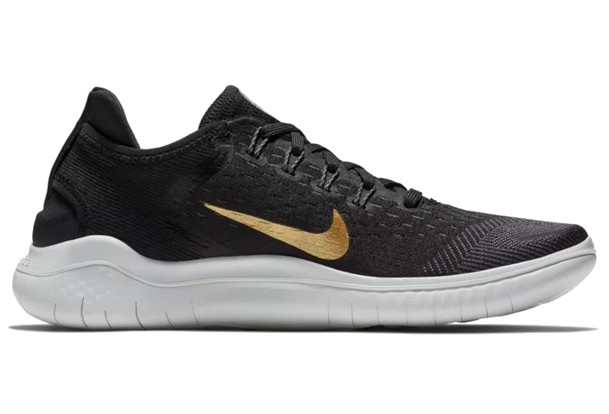 best sneakers caad2 68239 Nike Free RN 2018 Women's Shoes Black Gold
