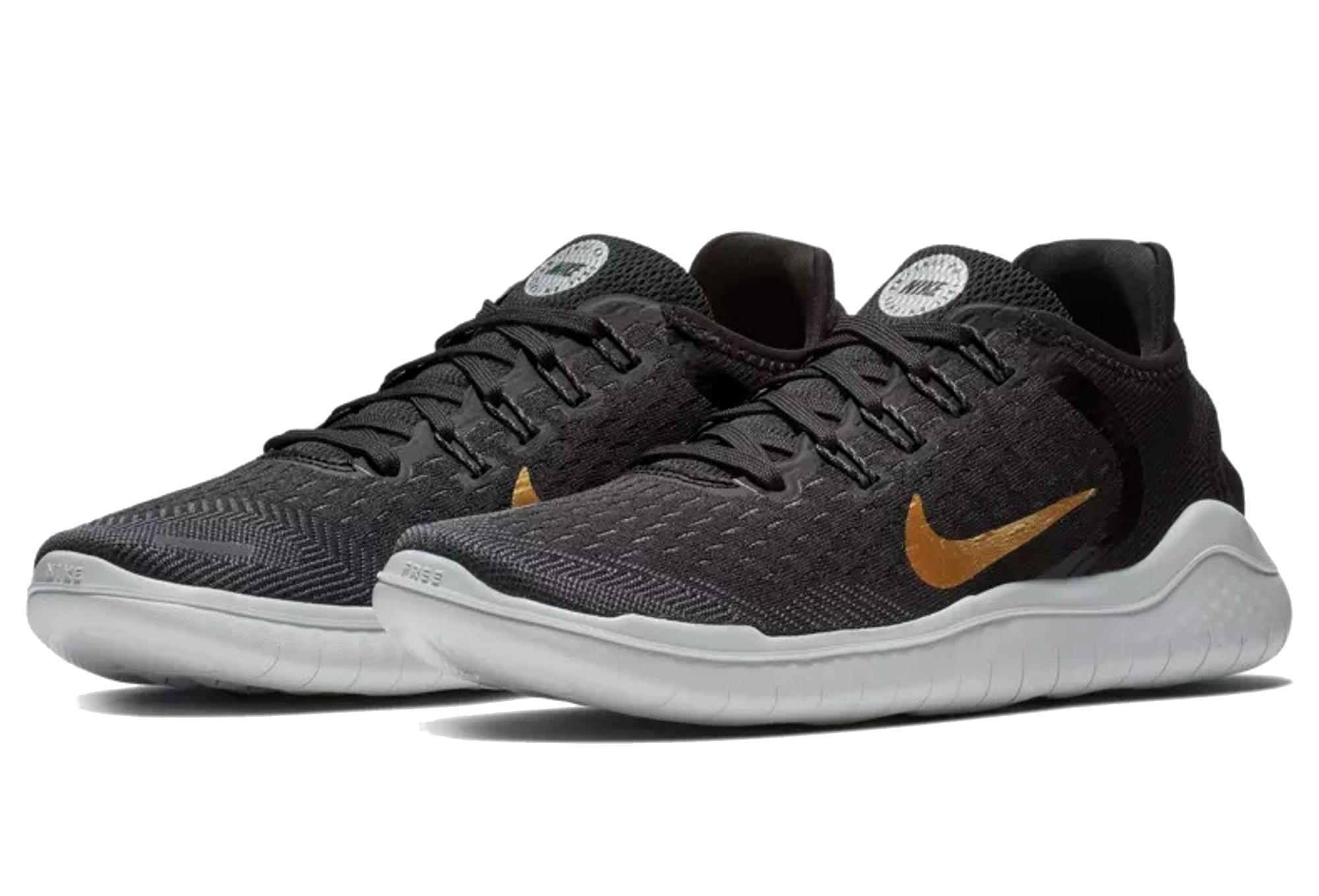 Nike Free RN 2018 Women's Shoes Black Gold | Alltricks.com