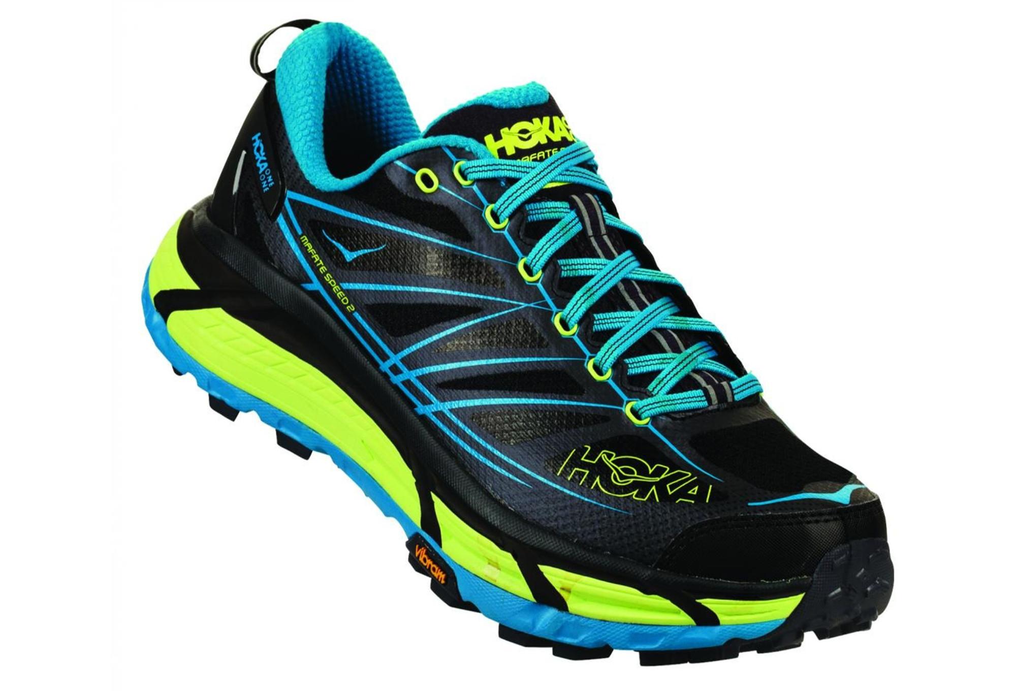 Scarpe da Running Trail Hoka Mafate Speed 2 Nero Blu Giallo 368f199a40d