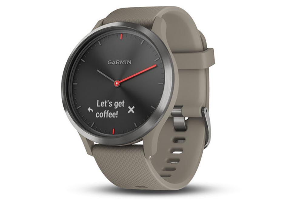 a925416f7 Garmin Vívomove HR Smartwatch Black with Sandstone Silicone Band |  Alltricks.com