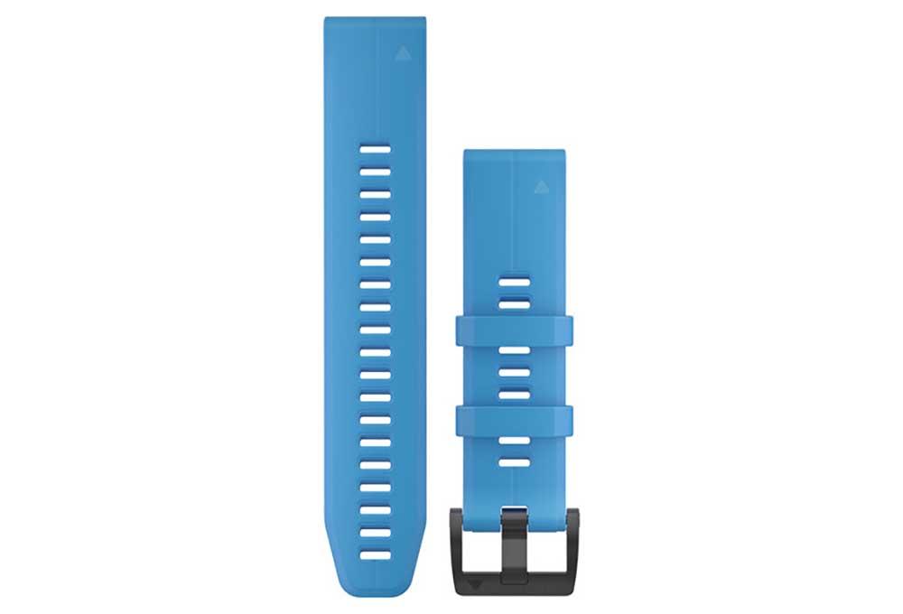Bracelet Silicone Garmin QuickFit 22 mm Bleu Cyan