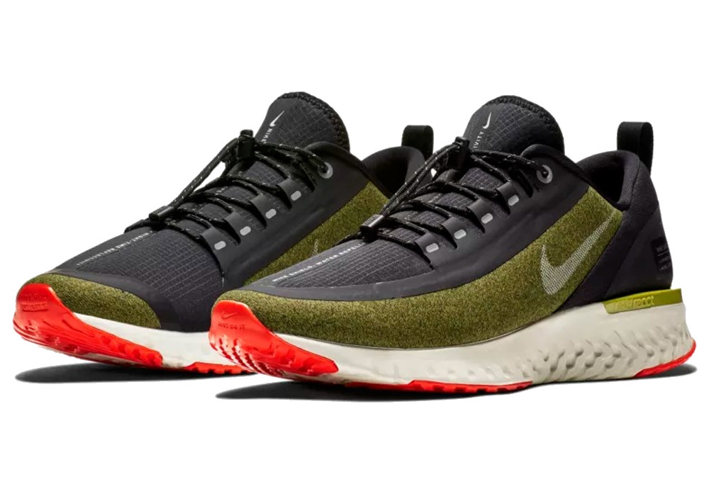 6bc4b982a0cacf Nike Odyssey React Shield Shoes Green Khaki | Alltricks.com