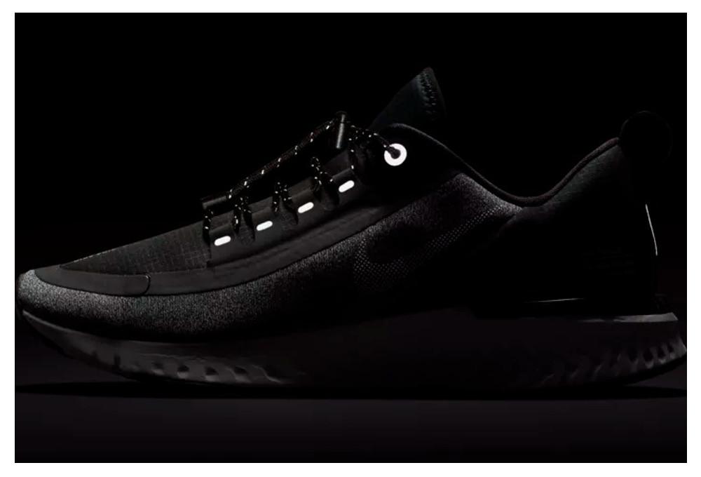 timeless design ab8d6 53ea9 Chaussures de Running Femme Nike Odyssey React Shield Noir   Blanc