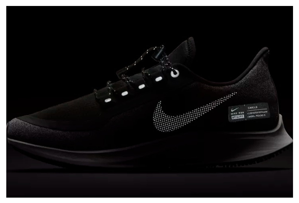 the latest 5c494 1b988 Chaussures de Running Femme Nike Air Zoom Pegasus 35 Shield Noir   Gris