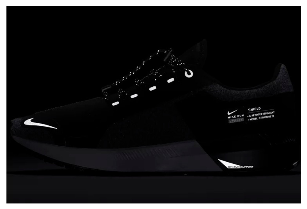 Nike Air Zoom Structure 22 Shield Zapatos Negro Blanco