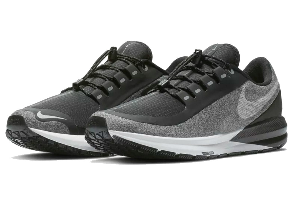 NIKE AIR ZOOM STRUCTURE 22 SHIELD BLACK WHITE Free Shipping