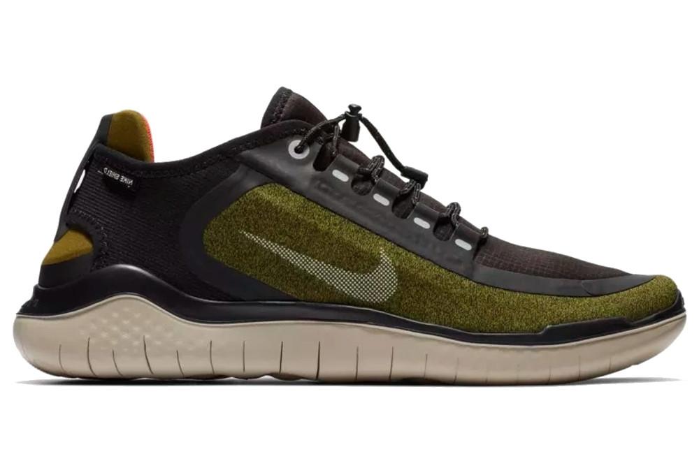 new styles 9ee3b 494a2 Nike Free RN 2018 Shield Shoes Green Khaki   Alltricks.com