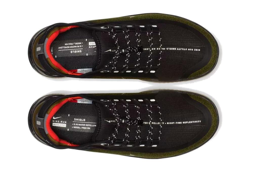 Nike Free RN 2018 Shield Shoes Green Khaki