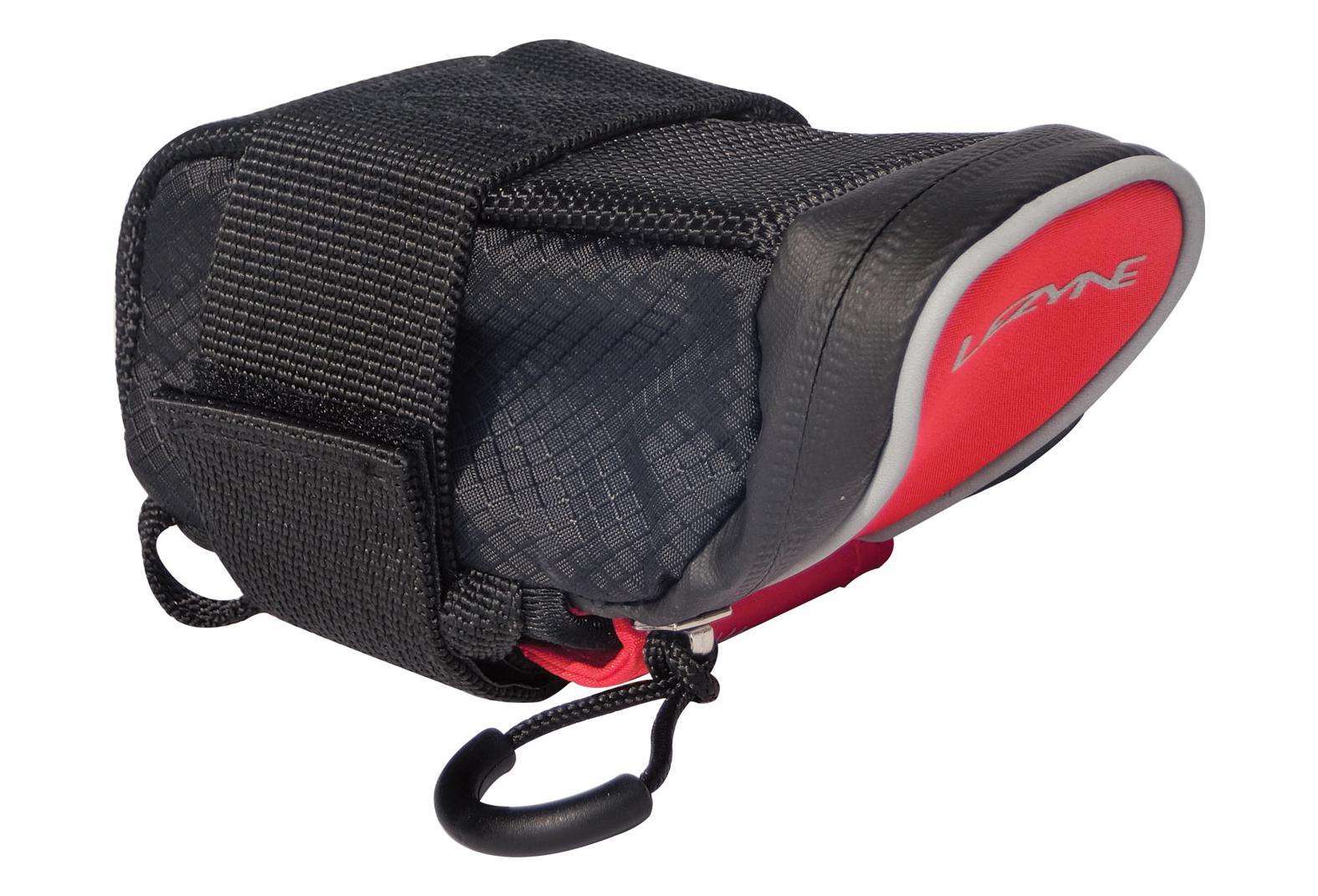 RED//BLACK Lezyne M-CADDY Bicycle Saddle Bag Road MTB Seat Bag Storage BLACK