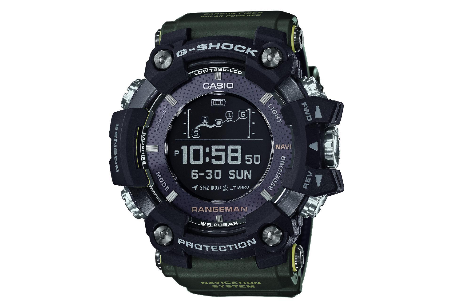 Casio Gps Outdoor Watch Rangeman Gpr B1000 Black Khaki
