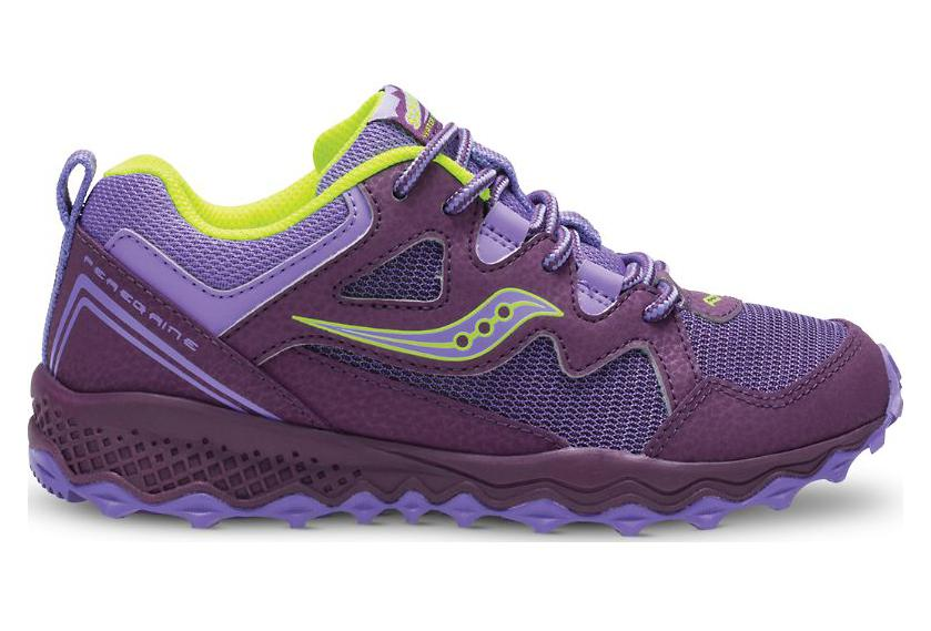 Shield Peregrine Running Shoes Kids 2 Purple Lemon Saucony JKlcFT1