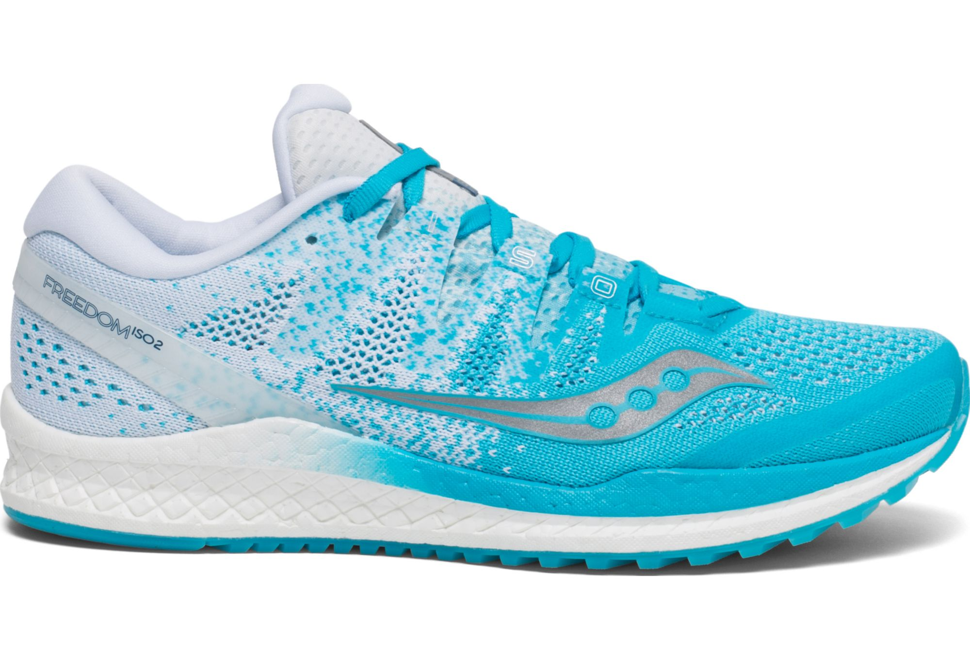 e0b9a92c Saucony Freedom ISO 2 Women's Running Shoes Blue White | Alltricks.com