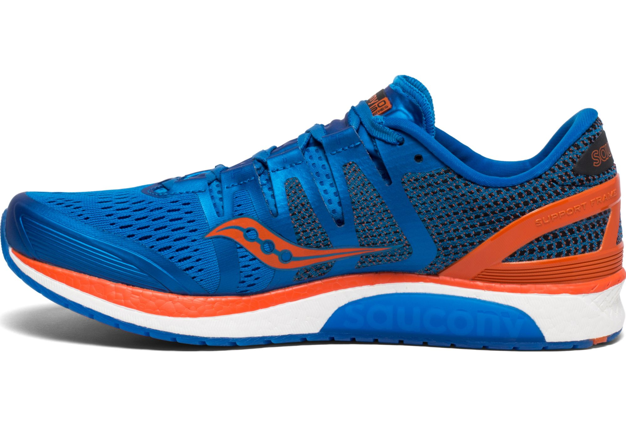 España Saucony Liberty Iso Hombres Zapatos para correr Azul