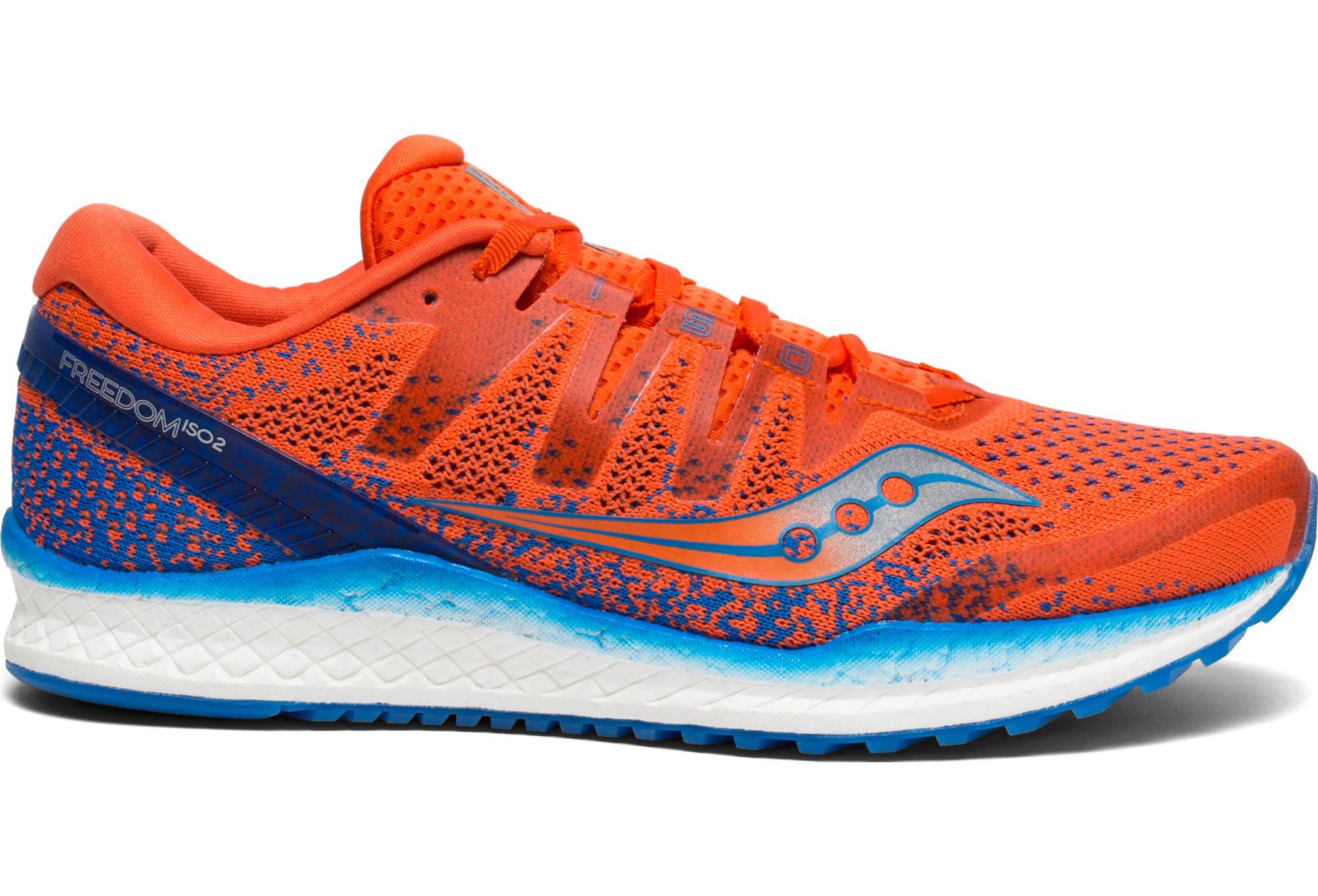 Saucony Freedom ISO 2 Running Shoes Orange Blue