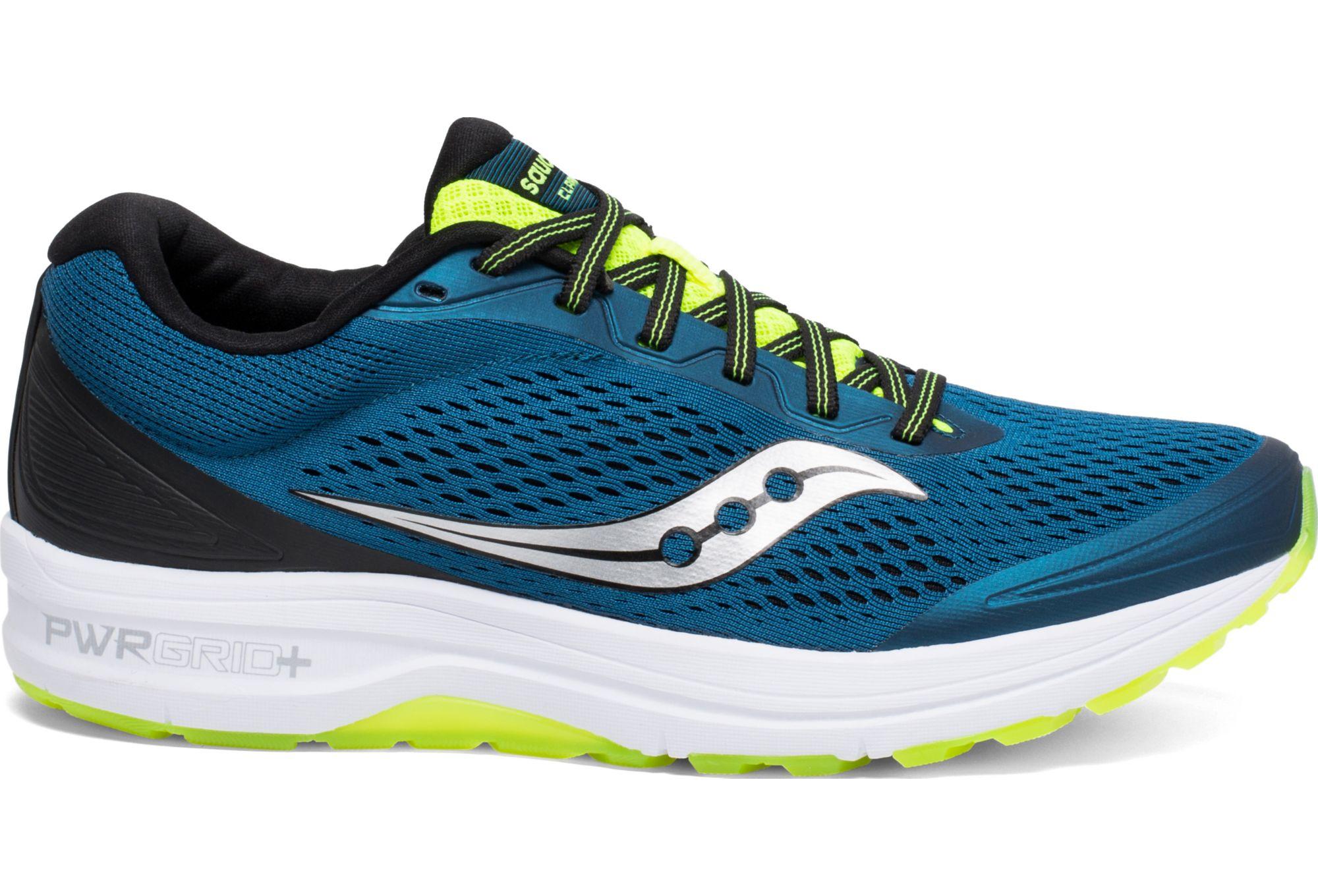 nowy styl nowe tanie świetne dopasowanie Saucony Clarion Running Shoes Navy Yellow