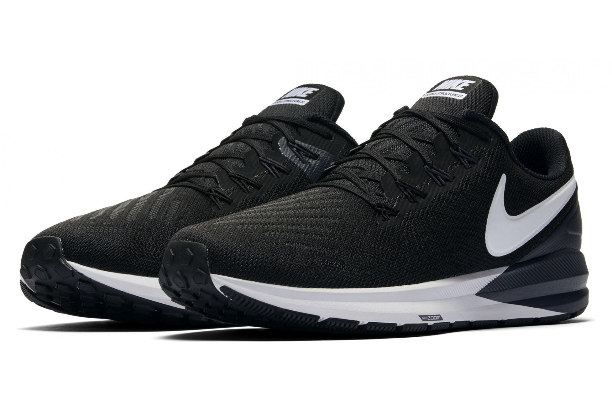 Nike Air Zoom Structure 22 Noir Blanc Homme