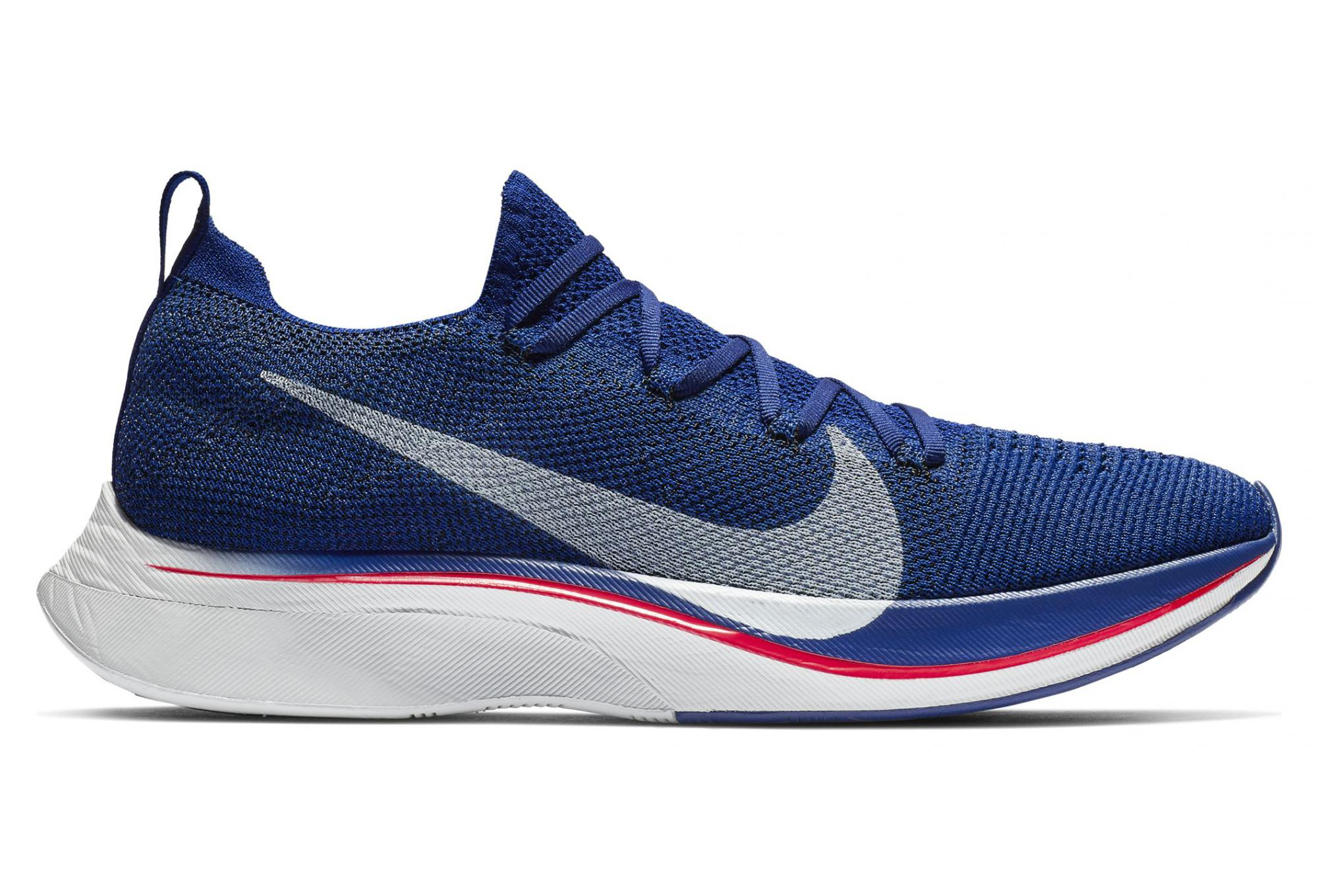 bbc1a80055bd9 Nike Vaporfly 4% Flyknit Blue Pink Unisex