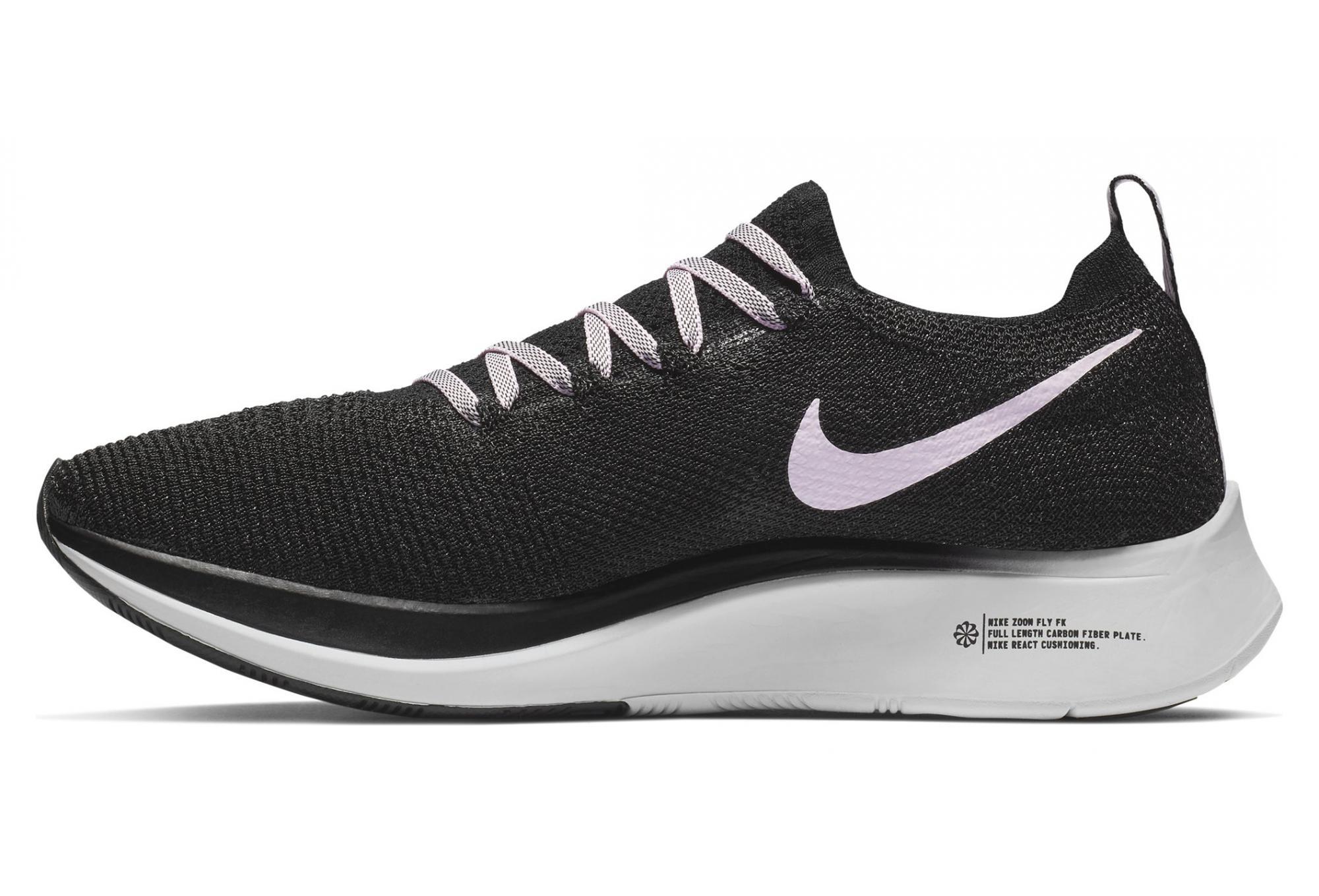 the latest 68d32 cdb69 Nike Zoom Fly Flyknit Black Pink Women