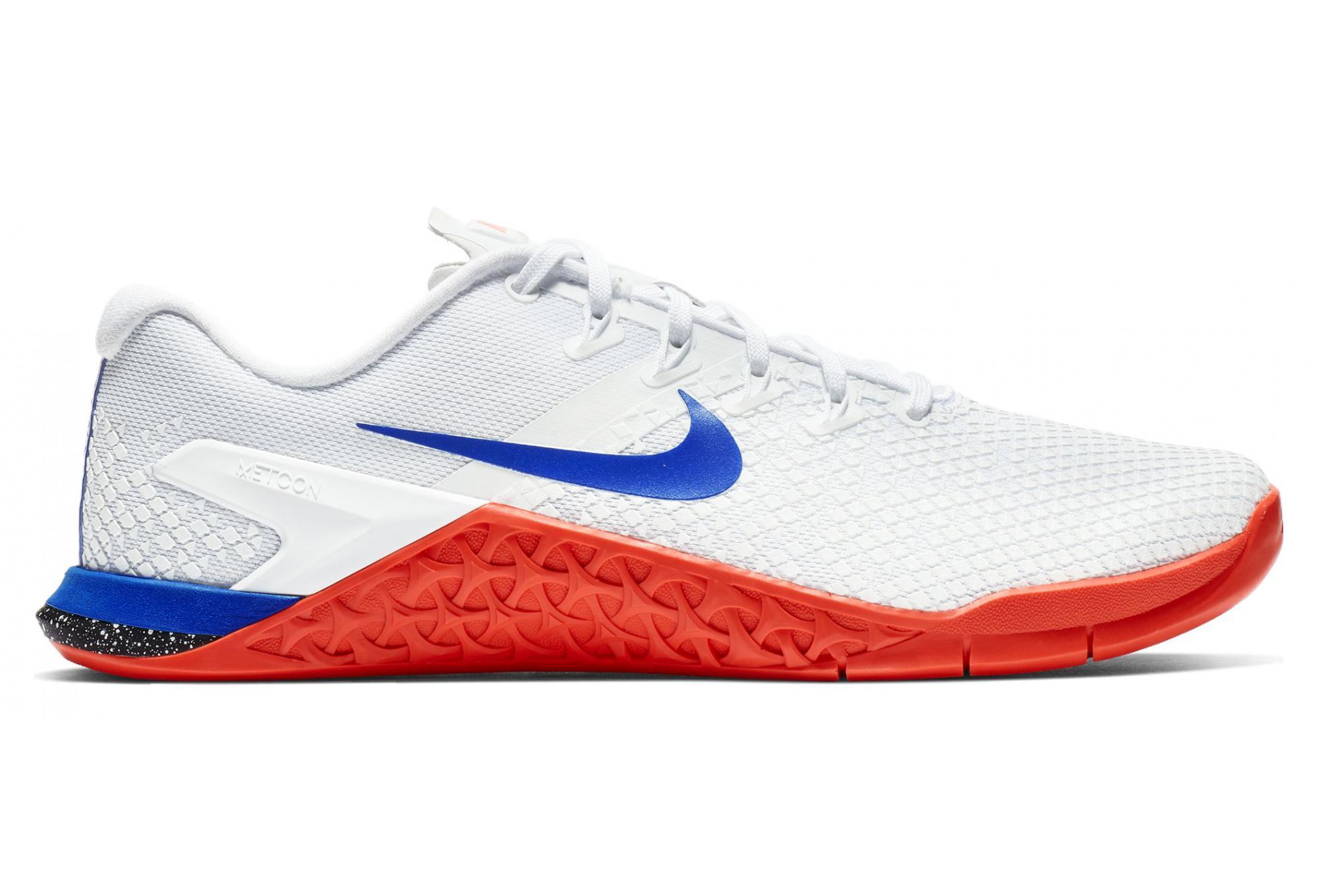 low cost 70f3b 7280d Chaussures de Cross Training Femme Nike Metcon 4 XD Blanc  Bleu  Rouge