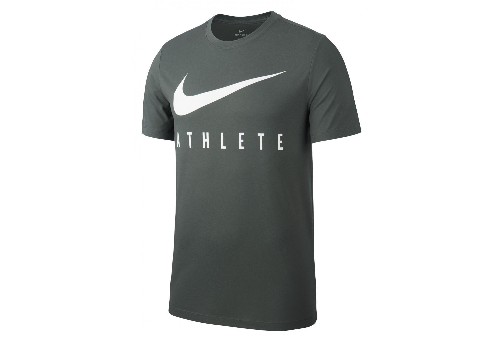 Camiseta de manga corta Nike Dri FIT Athlete Vert Kaki para hombre