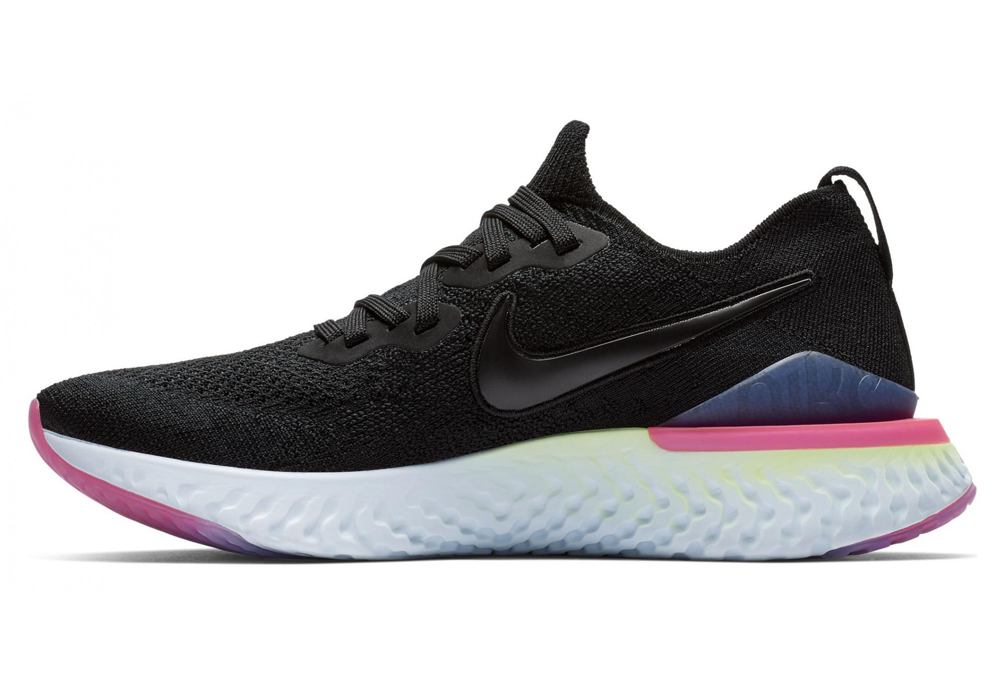 low priced e4f2b ad01f Nike Epic React Flyknit 2 Black Pink Yellow Women