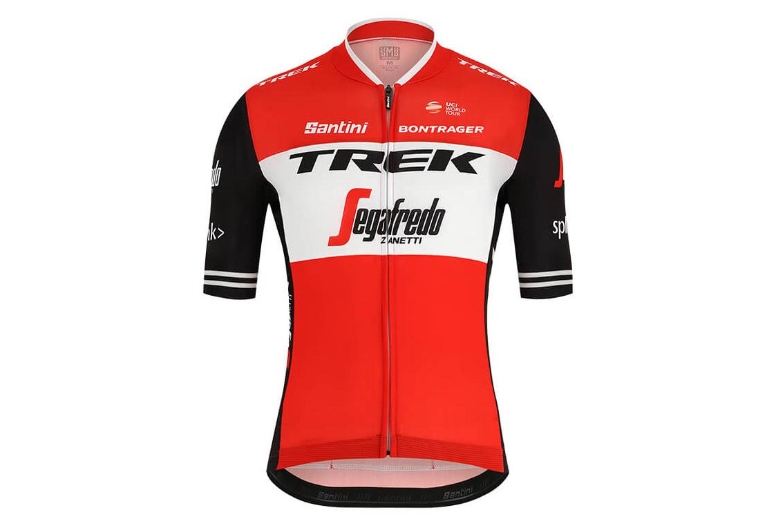 Short Sleeves Jersey Trek by Santini Team Trek-Segafredo Red Black 2019 2fb463c6d