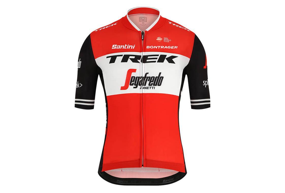Short Sleeves Jersey Trek by Santini Team Trek-Segafredo Red Black 2019 688bf5049