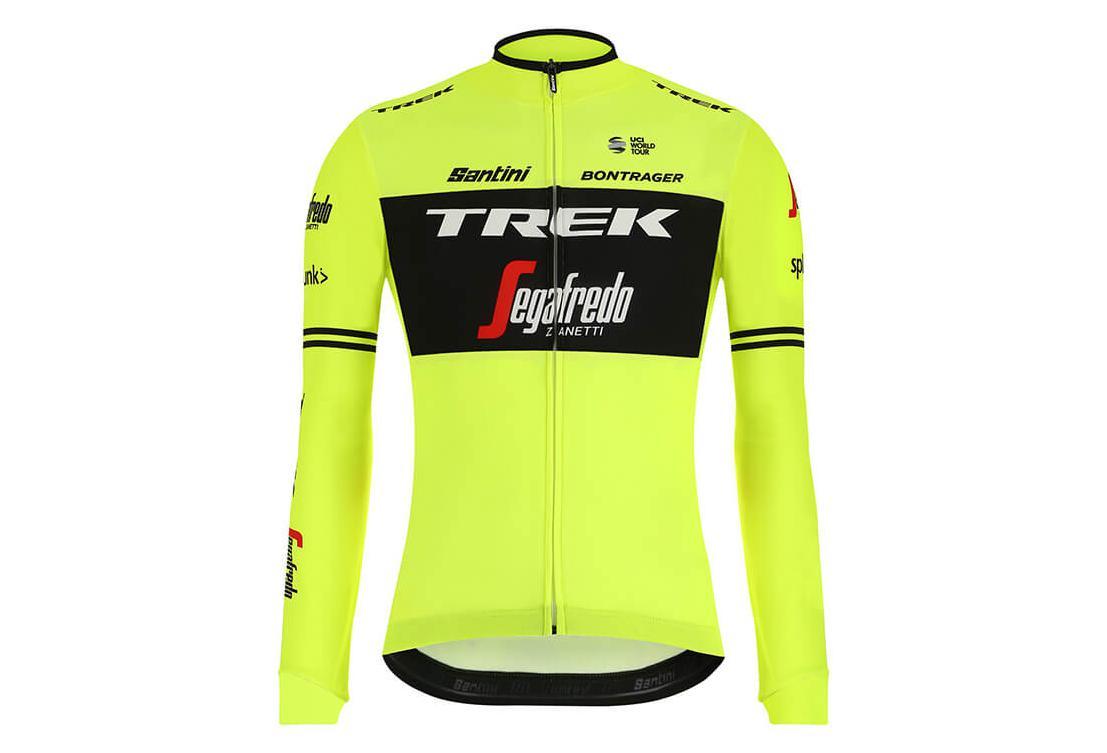 6e4acc72b Trek by Santini Long Sleeves Thermal Jersey Team Trek-Segafredo Neon Yellow  2019   Alltricks.com