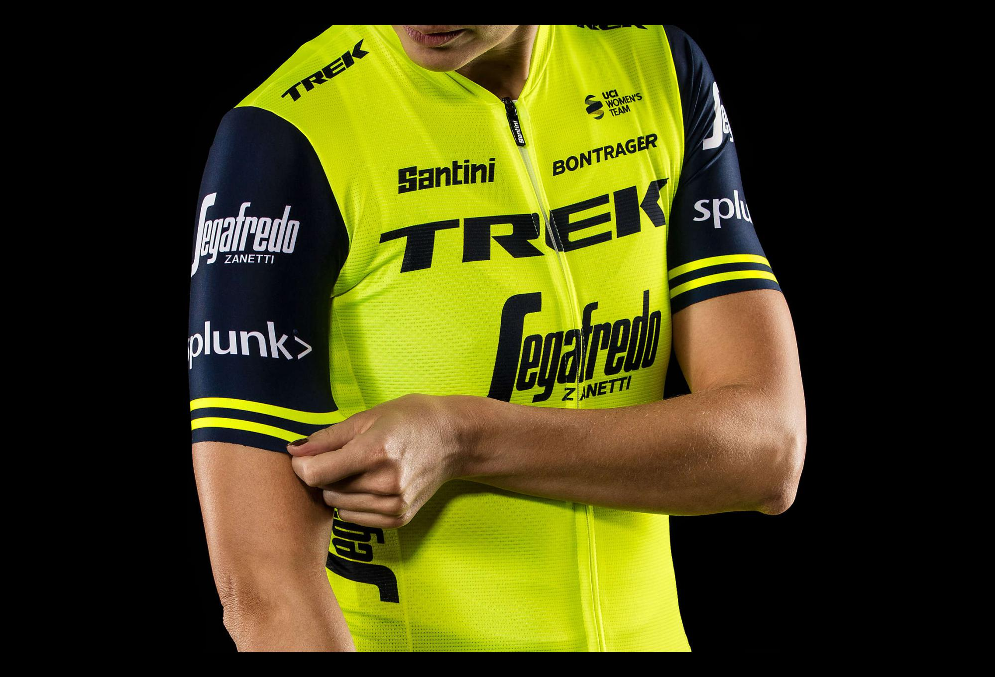 d9d459e2b Short Sleeves Jersey Women Trek by Santini Team Trek-Segafredo Replica  Yellow