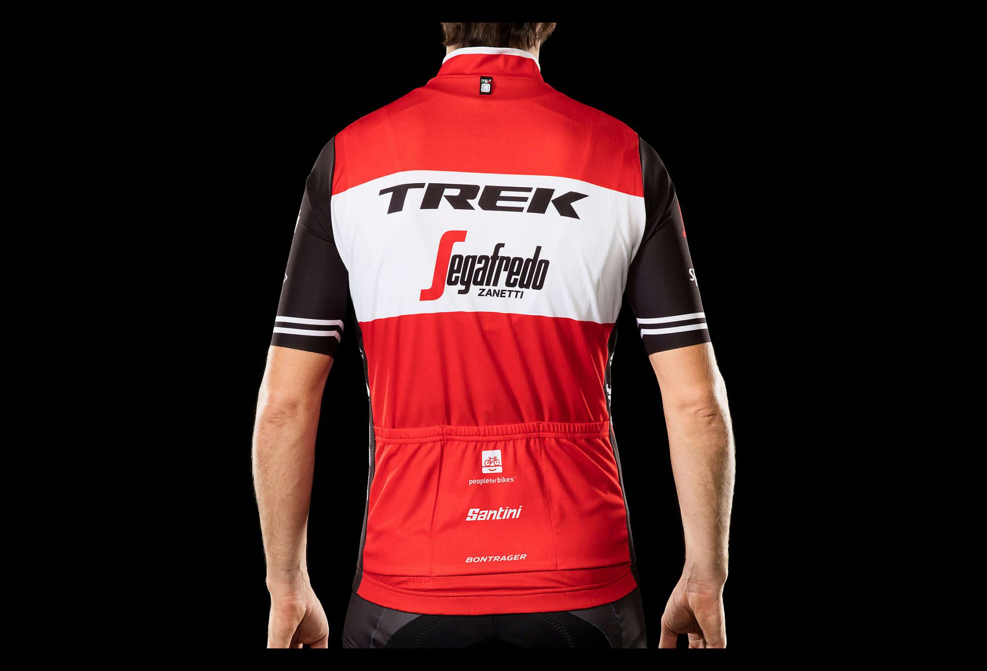 Short Sleeves Jersey Trek by Santini Team Trek-Segafredo Replica Red Black  2019 8f0be461b
