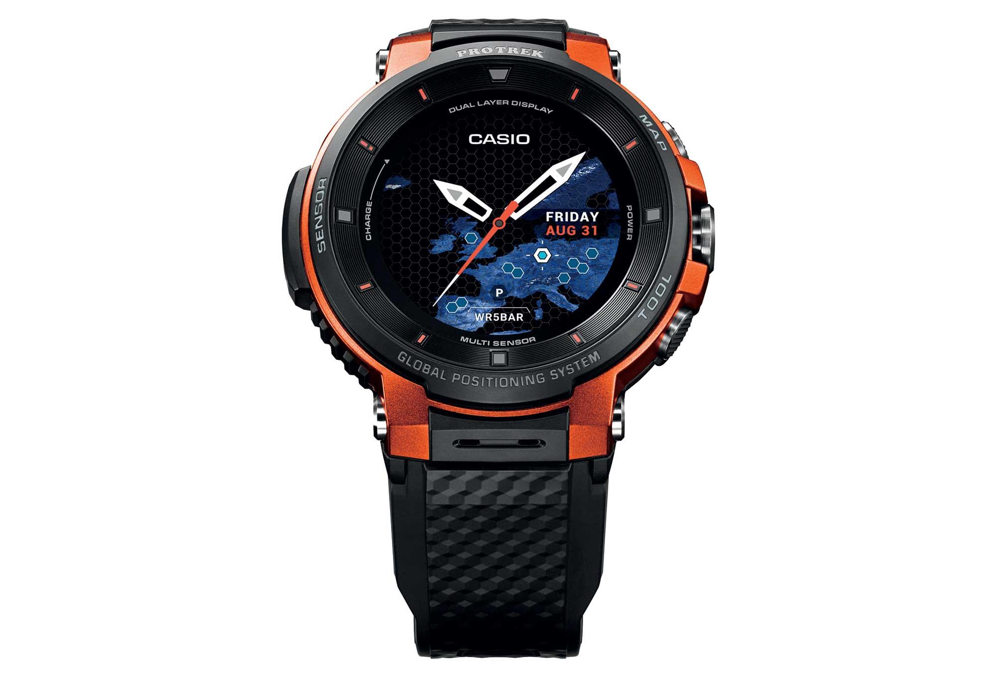 286087f5825b Reloj Casio Pro Trek Smart WSD F30 GPS Naranja Negro