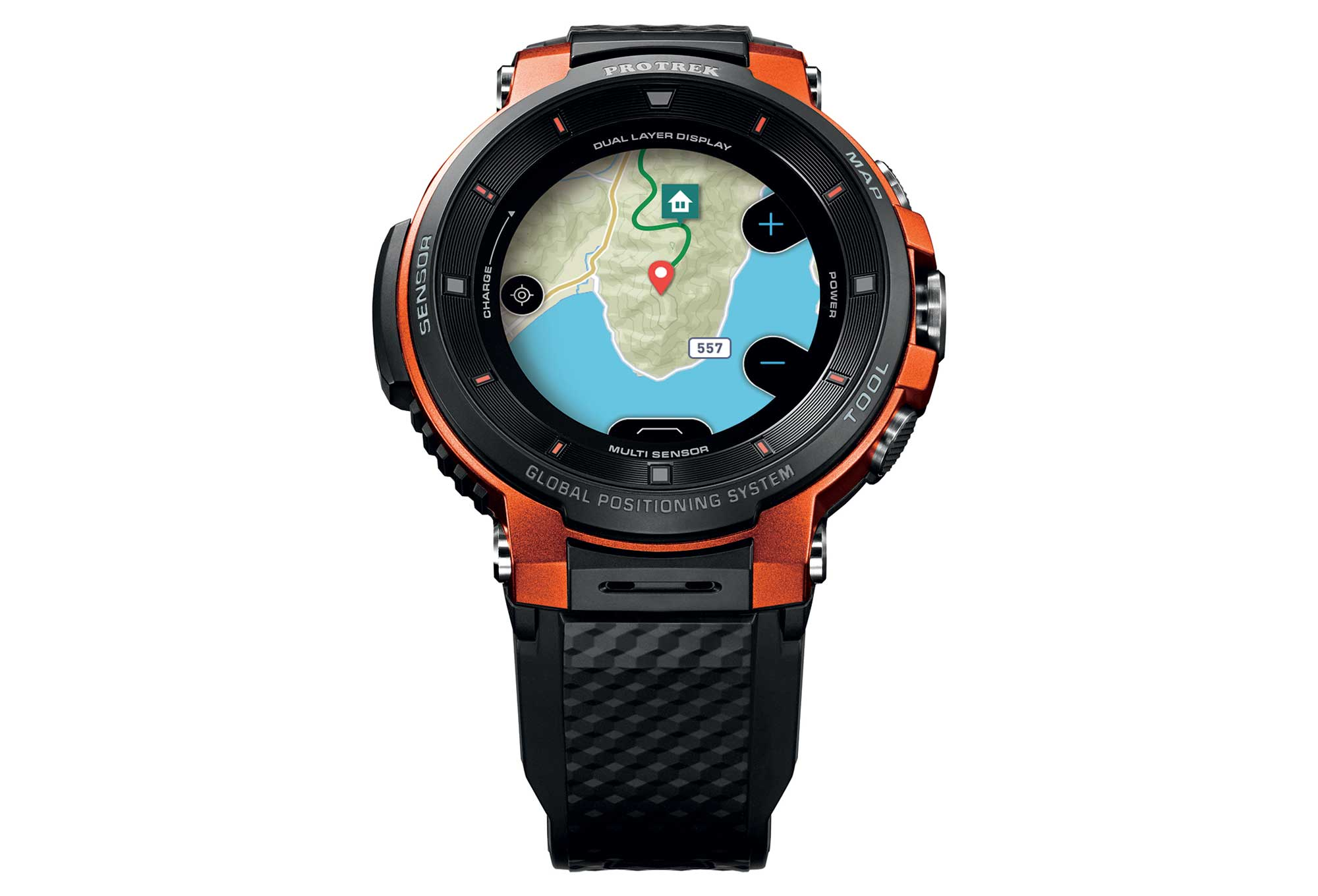 F30 Pro Trek Smart Schwarz Gps Wsd Orange Uhr Casio mnwOv0Ny8