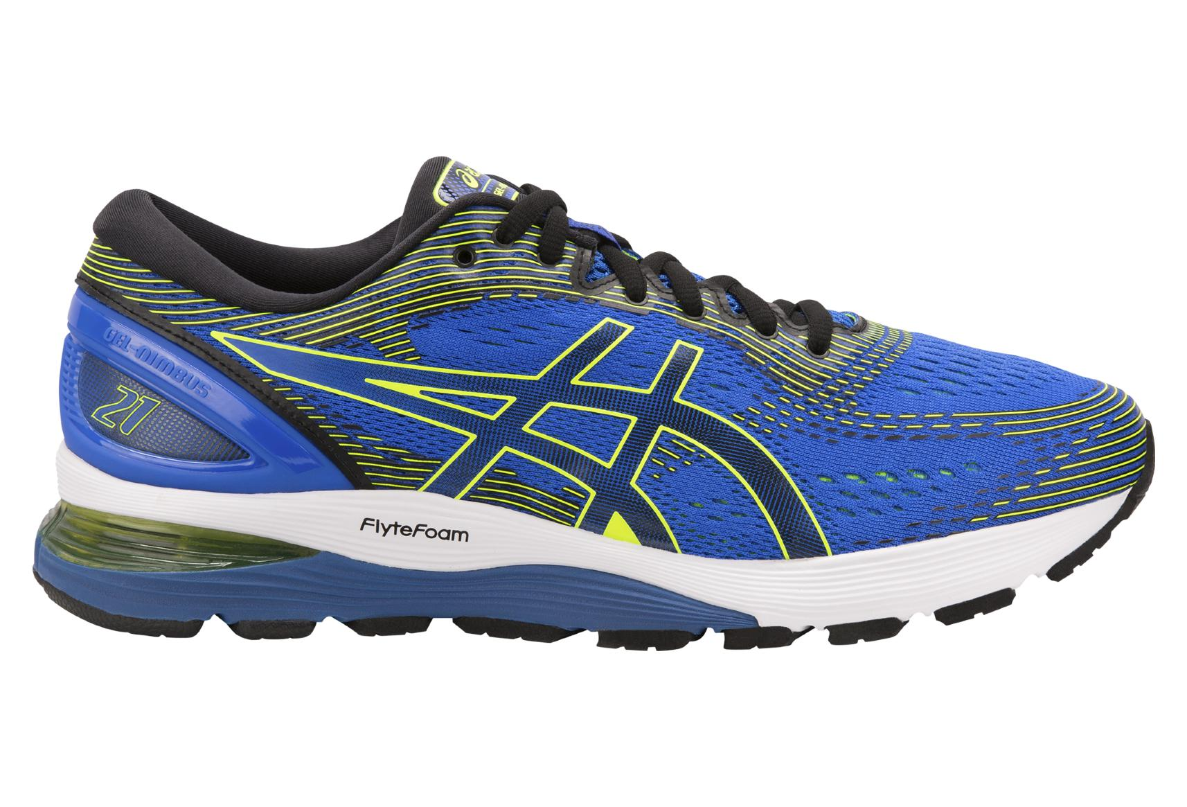 Zapatillas Asics Run Gel Nimbus 21 Azul Verde
