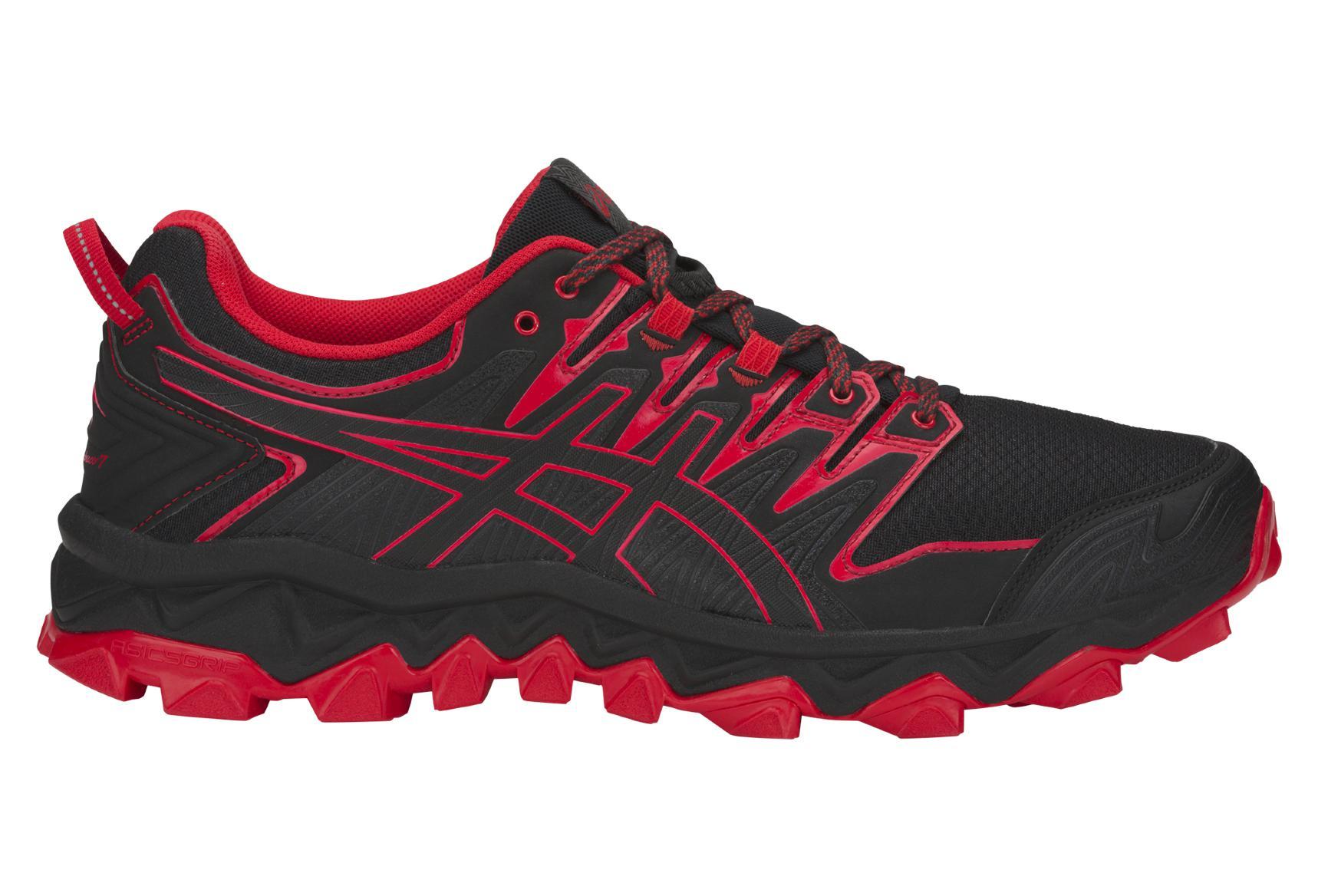 05d3ff1ffb7 Zapatillas Asics Gel FujiTrabuco 7 para Hombre Negro   Rojo