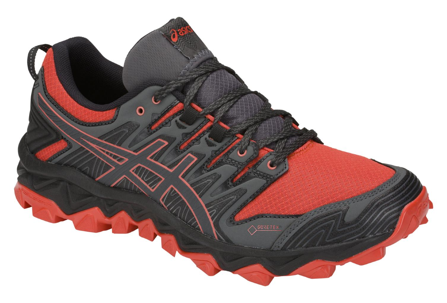 Asics Shoes Trail Gel FujiTrabuco 7 GTX Negro Rojo