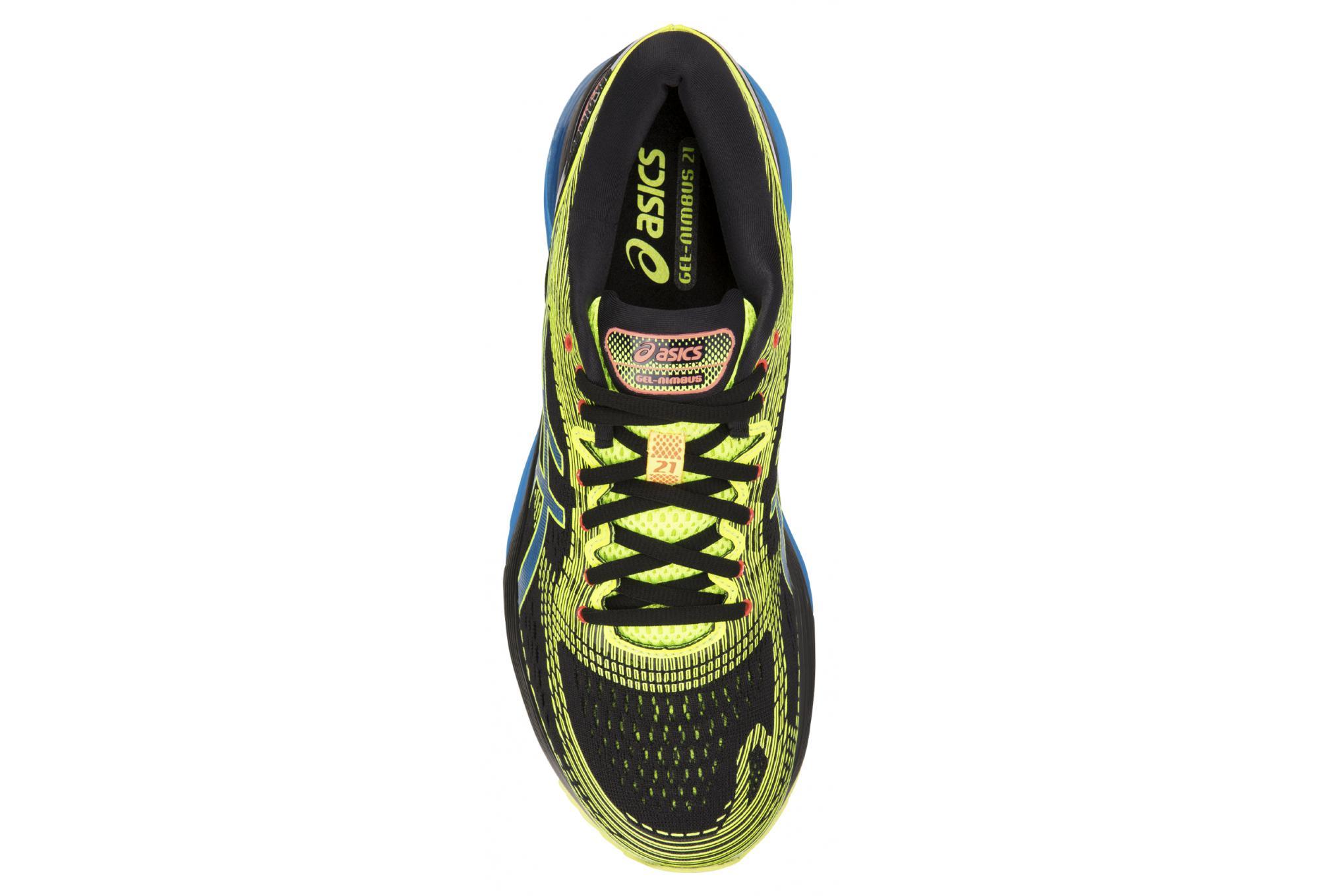 f87ab4109067 Asics Shoes Run Gel Nimbus 21 OPTIMISM Black Yellow Blue