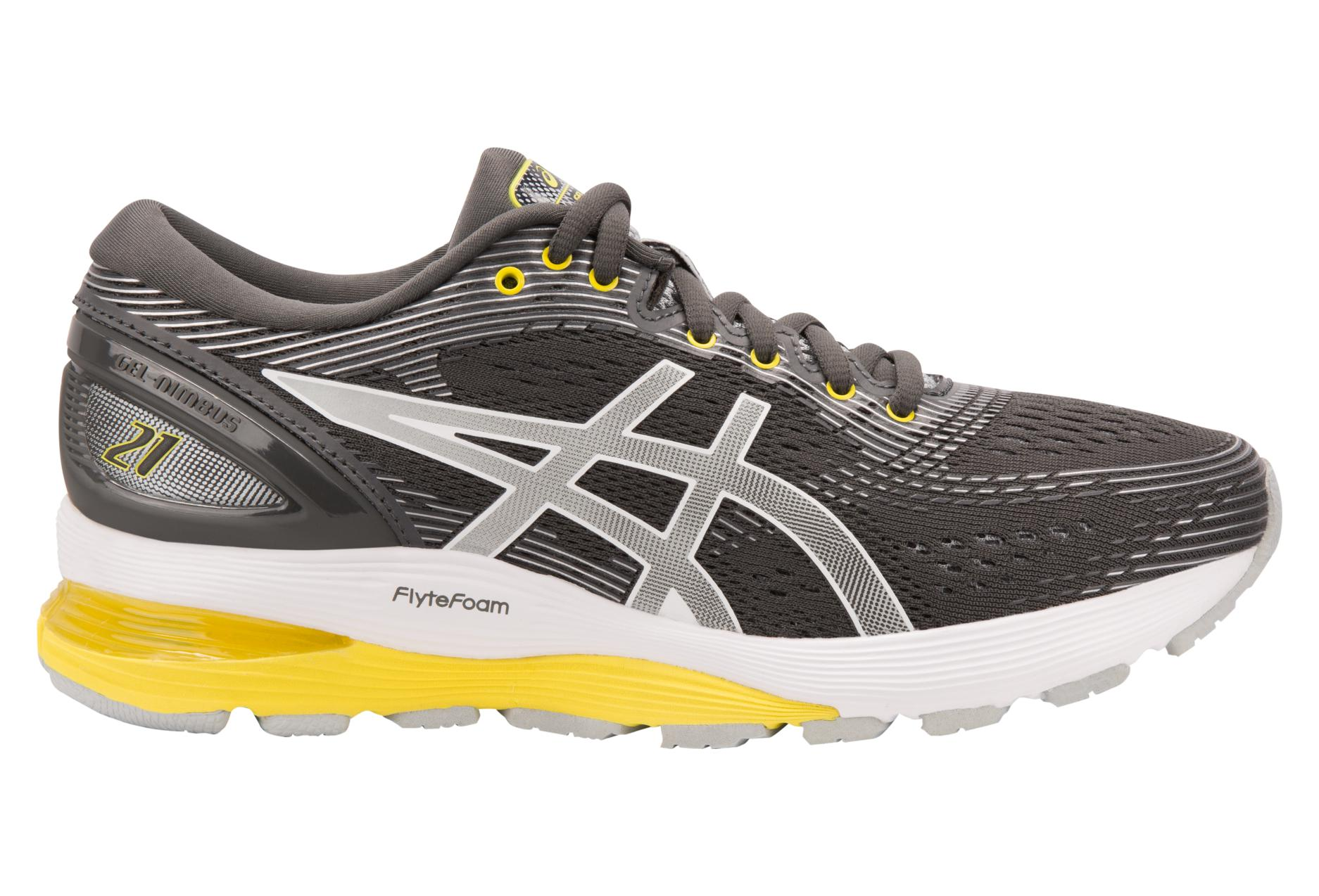 Asics Shoes Run Gel Nimbus 21 Grey Yellow Women