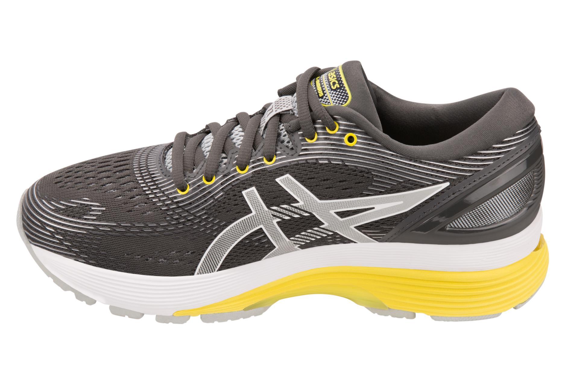 Asics Shoes Run Gel Nimbus 21 Grey Yellow Women 40
