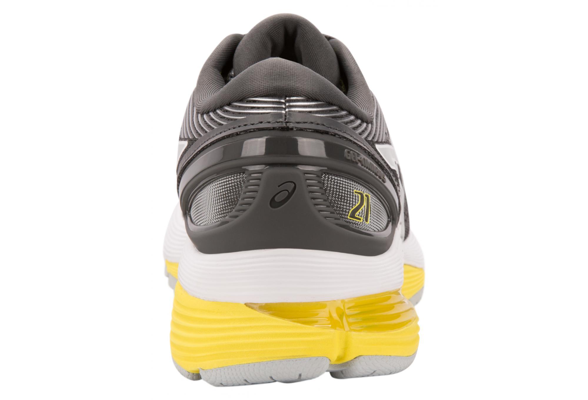 Asics Shoes Run Gel Nimbus 21 Grey Yellow Women 42