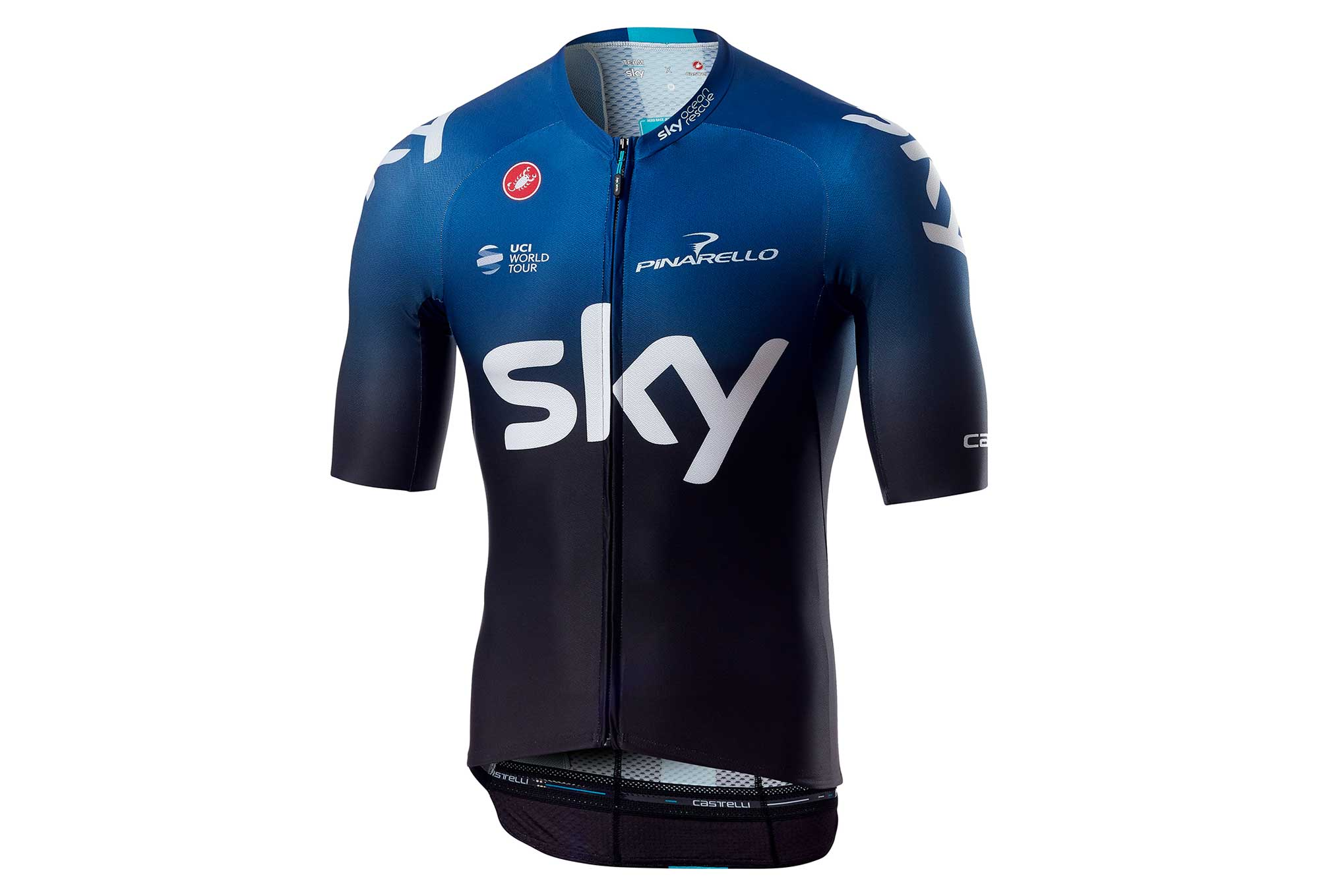 Castelli Aero Race 6.0 Team Sky 2019 Short Sleeves Jersey Black Light Blue   888b19e19