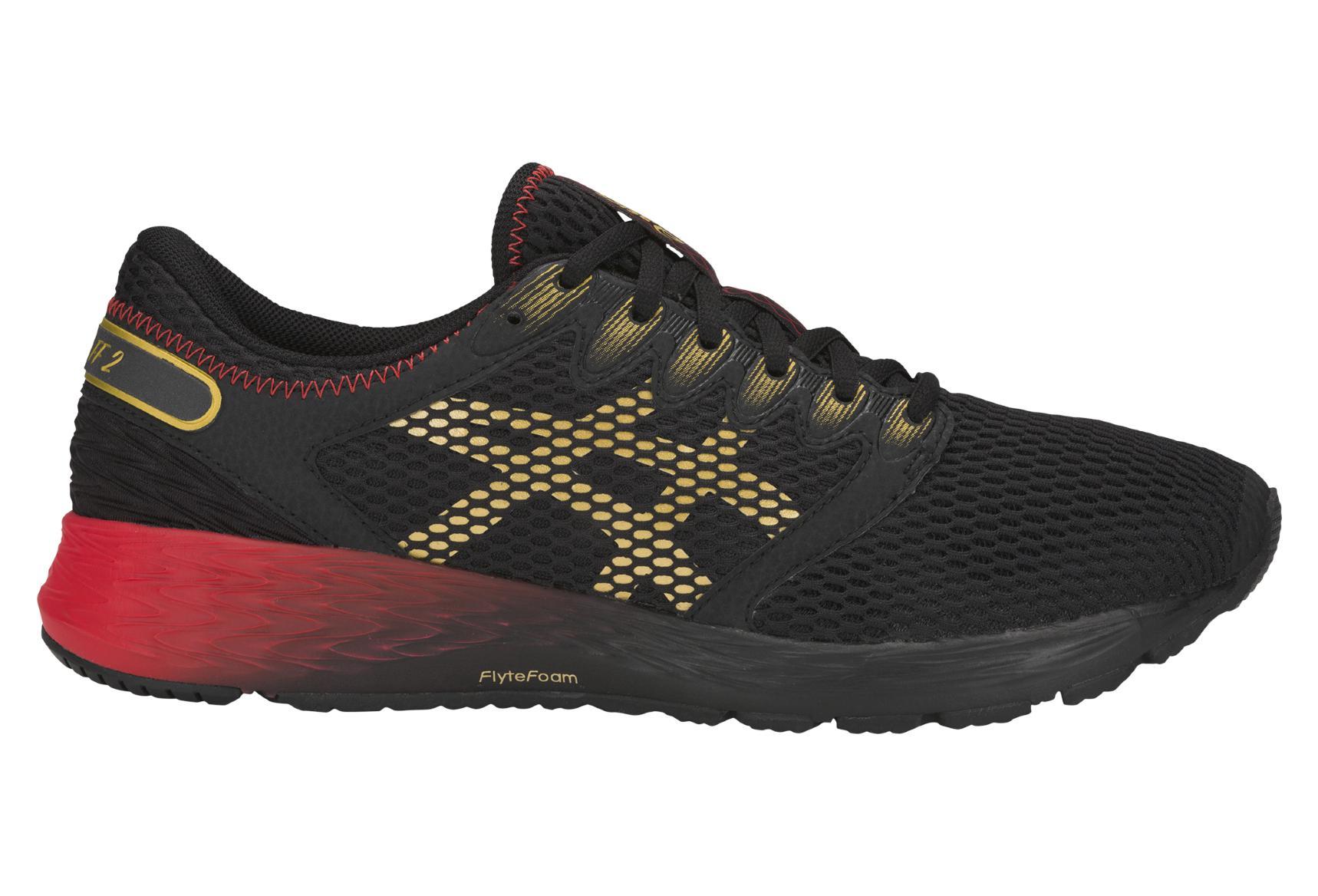 Asics Shoes Run Roadhawk FF 2 MUGEN Black Red