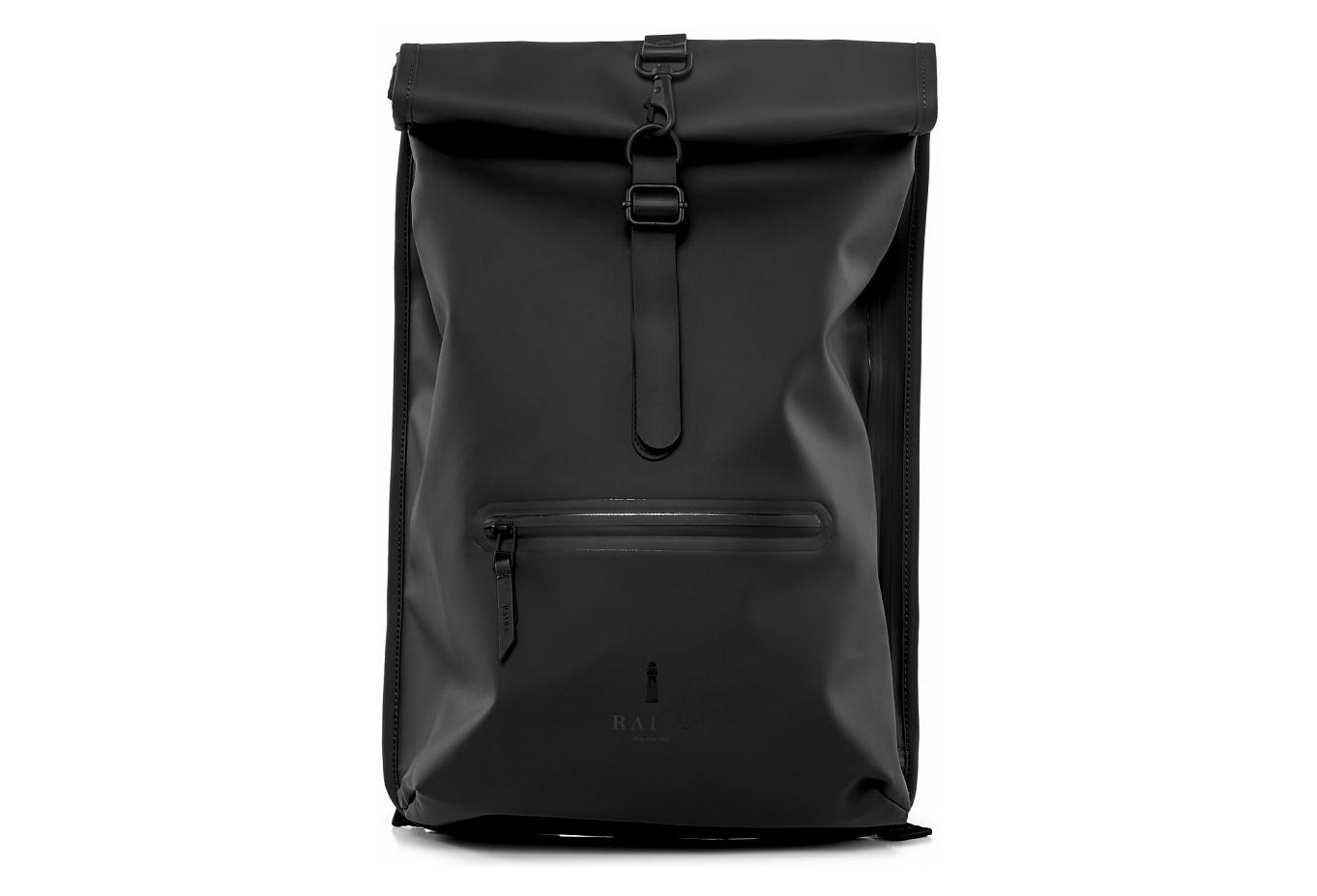retail prices on feet at autumn shoes Rains Roll Top Rucksack Black | Alltricks.com