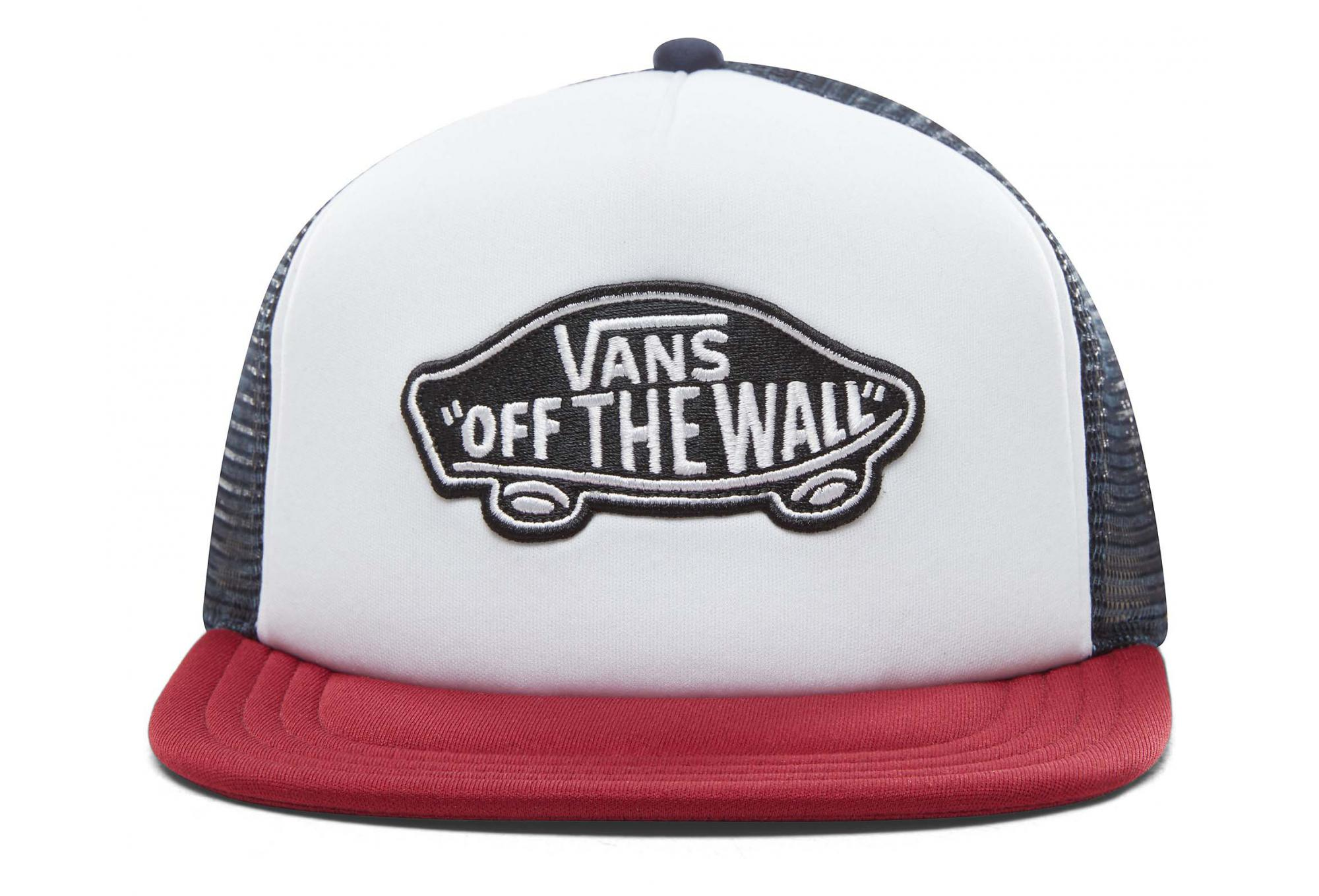 d5151fd23f3185 Vans Classic Patch Trucker Hat White   Red