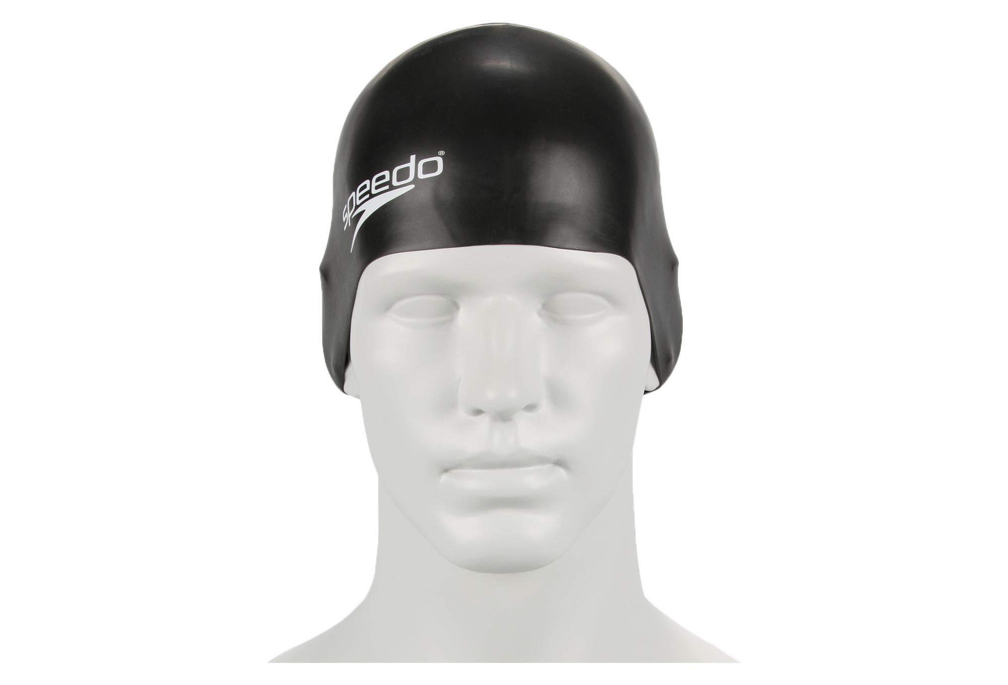 Black Speedo Silicone Moulded Junior Swimming Cap