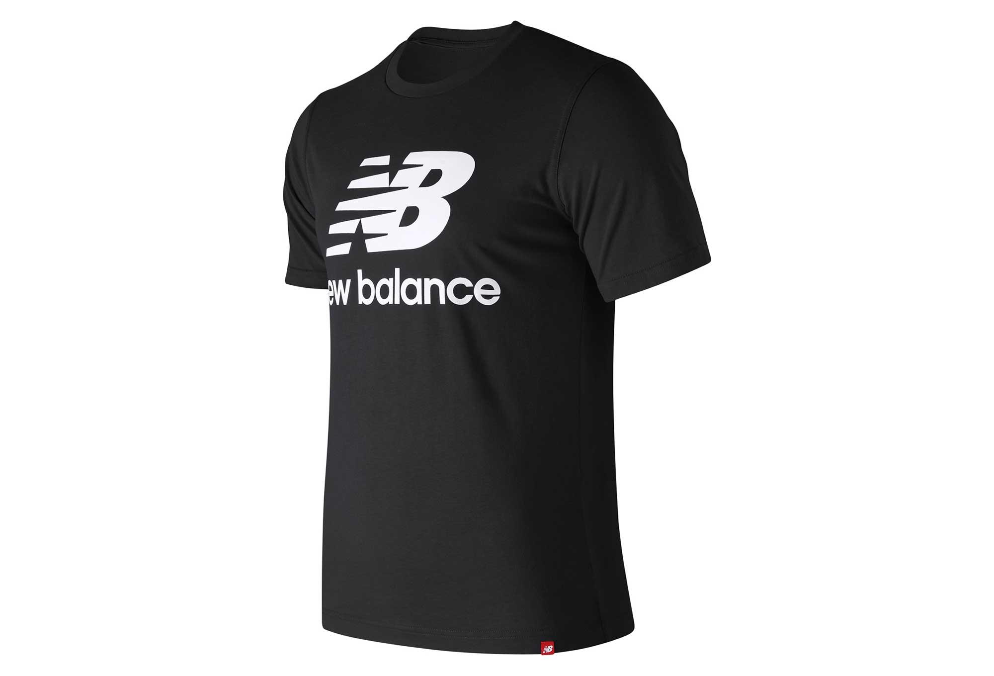 ee52c9e5 New Balance Short Sleeves Tee Shirt NB Essentials Logo Black Men    Alltricks.com
