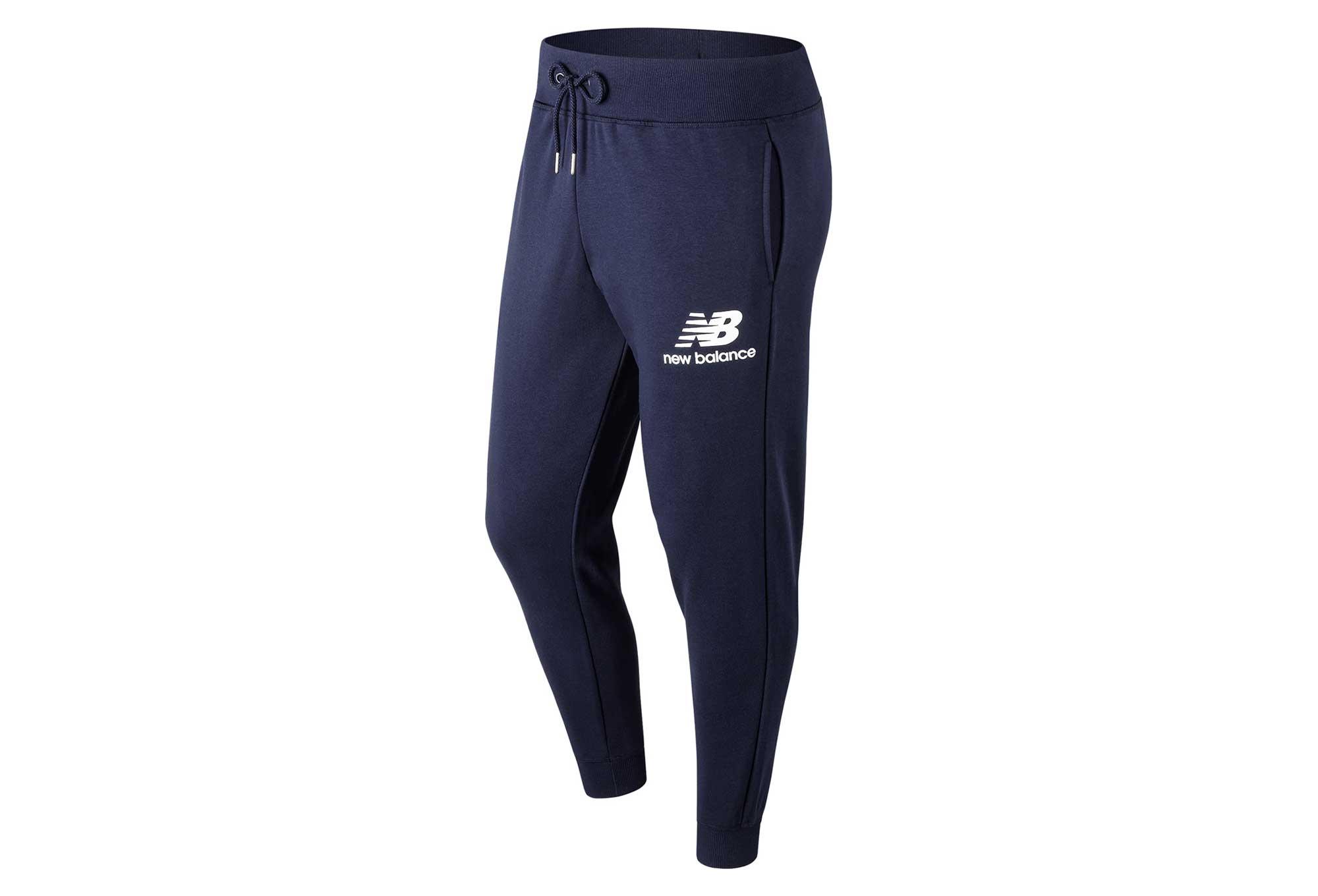 Pantalon jogging New Balance NB Essentials Logo Bleu Homme