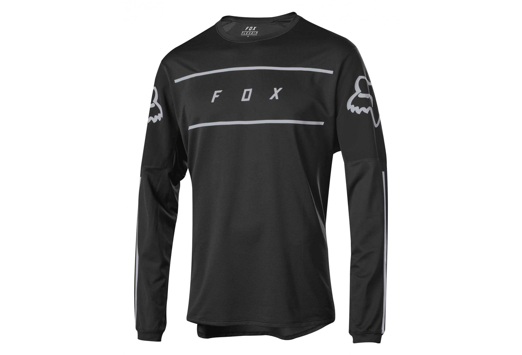 release date official photos free shipping Fox Flexair Long Sleeves Fine Line Jersey Black | Alltricks.com